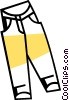 Vector Clip Art picture  of a Pants