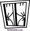 Vector Clip Art image  of a Windows