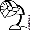 Vector Clipart picture  of a Electric Fan