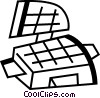 Vector Clipart picture  of a Waffle Irons
