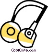 Vector Clipart graphic  of a Headphones