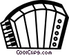 Vector Clipart picture  of an Accordions