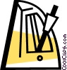 Vector Clip Art picture  of a Metronomes