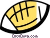 Vector Clip Art graphic  of a Footballs