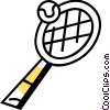Vector Clipart picture  of a Balls and Rackets Racquets