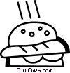 Vector Clipart picture  of a Hamburgers