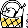Food Baskets Vector Clipart graphic
