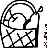 Vector Clipart illustration  of a Food Baskets