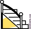 Vector Clip Art picture  of a Stairs