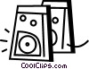 Speakers Vector Clipart picture