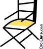 Vector Clip Art image  of a Folding Chair