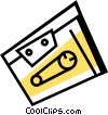 Vector Clipart image  of a Cassette Tapes