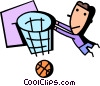 Vector Clip Art image  of a Basketball Players