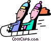 Tobogganing Vector Clipart image