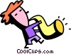 Vector Clip Art image  of a Saxophonists