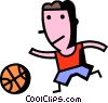 Basketball Players Vector Clip Art picture