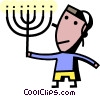 Vector Clipart picture  of a Menorahs