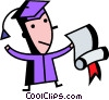 Vector Clip Art graphic  of a Graduates