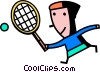 Player Vector Clipart illustration