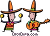 Vector Clipart illustration  of a Mexican and Spanish
