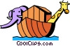 Noah's Ark Vector Clipart graphic