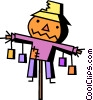 Scarecrow Vector Clip Art graphic