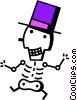 Skeletons Vector Clipart graphic