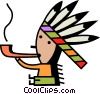 Vector Clipart graphic  of an American Indians