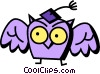 Vector Clip Art graphic  of a Owls