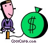 Vector Clipart illustration  of a Investment and Stock Market