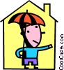 Vector Clipart image  of a Mortgage and Loans