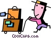 Passengers Vector Clipart illustration
