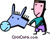 Vector Clipart picture  of a Hobby Horses