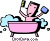 Vector Clip Art image  of a Bathing