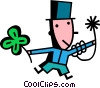 Vector Clip Art image  of a Man celebrating St. Patrick's