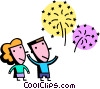 Fireworks and Firecrackers Vector Clip Art image