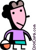 Vector Clipart image  of a Men