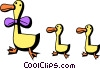Ducks Vector Clipart graphic