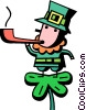 Leprechauns Vector Clip Art picture