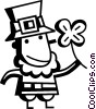 Vector Clip Art graphic  of a Leprechauns