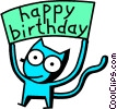 happy birthday cat Vector Clipart picture