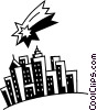 Vector Clipart image  of a Cityscapes