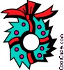 Vector Clipart graphic  of a Wreaths