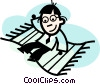Vector Clipart illustration  of a Soaring to New Heights
