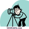 Vector Clip Art graphic  of a Photographers