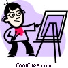 painter Vector Clipart illustration