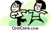 couple dancing Vector Clipart image
