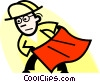 Vector Clip Art graphic  of a bullfighter