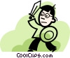 Vector Clipart illustration  of a warrior