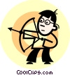 Vector Clipart illustration  of an archer